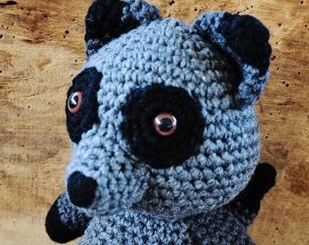 Crochet Raccoon Stuffed Animal, Raccoon Plushy, Woodland Nursery, Woodland Animal Plushy