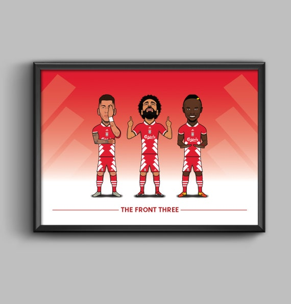 The Front Three (Firmino, Salah, Mane) 1993-95 Retro Kit