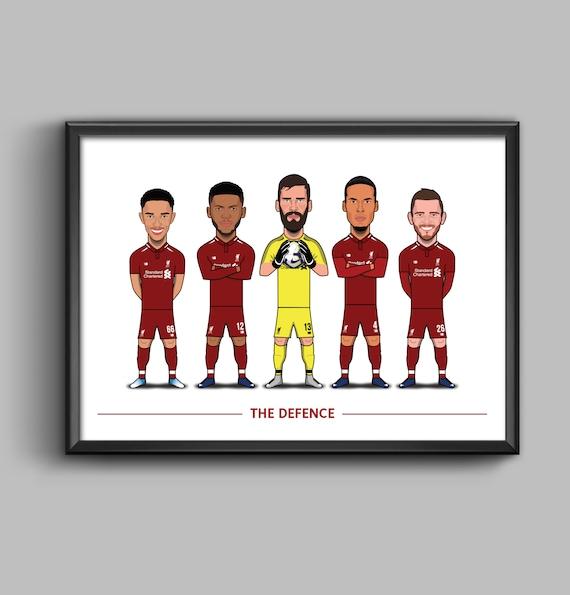 The Defence (Trent, Gomez, Alisson, Van Dijk, Robertson) LFC
