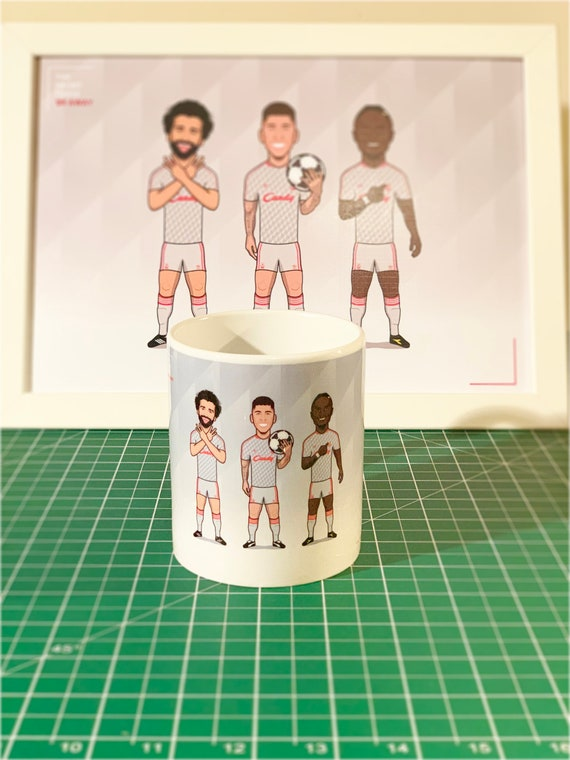 The Front Three 1989 Away (Retro Kit) - Drinking Mug **SPECIAL EDITION**