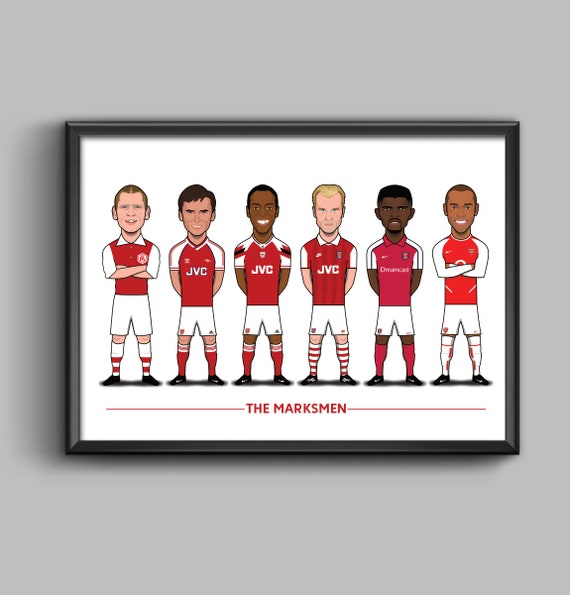 The Marksmen (Bastin, Smith, Wright, Bergkamp, Kanu, Henry)