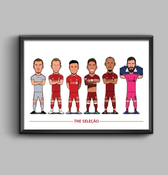 The Seleção (Aurelio, Lucas, Coutinho, Firmino, Fabinho, Alisson)