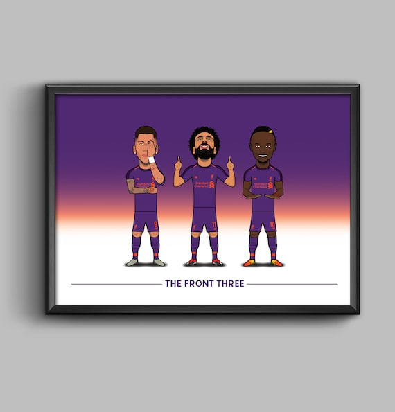 The Front Three (Firmino, Salah, Mane) **AWAY KIT**