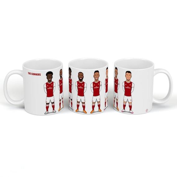 The Gunners (Saka, Lacazette, Aubameyang, Martinelli) - Drinking Mug