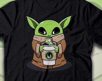 Yoda Parody Mandalorian Pulp Fiction Tshirt Unisex /& Kids Funny