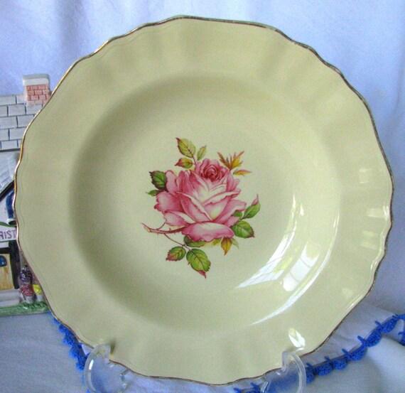 J & G Meakin Sunshine Bowl Circa 1910 Large Pink Rose Bowl ...