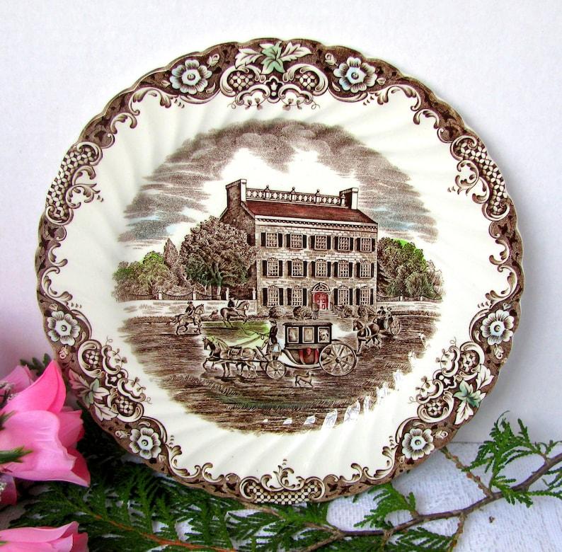 Vintage Johnson Brothers Georgian Townhouse Dinner Plate 9 Etsy