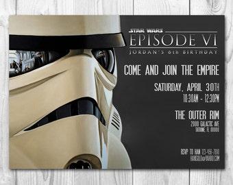 Star Wars Invitation - Stormtrooper Invitation - Star Wars Birthday Invitation - A new hope - FREE Thank you cards
