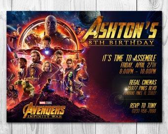 Avengers Infinity War Invitation, Avengers Invitation, Avengers Infinity War, Avengers Invite, Infinity War Invitation, Free Thank You Cards