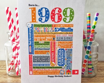 50Th Birthday Gift Ideas For Dad From Daughter 50th Card 1969 Personalised And Tag Free UK PP