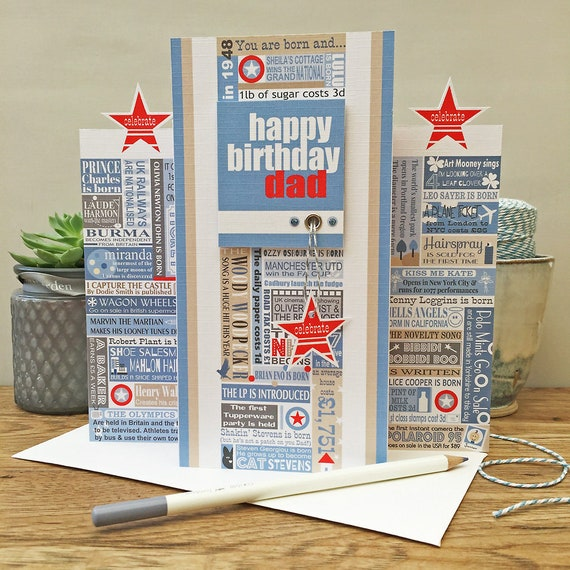 Year You Were Born Personalised Birthday Card All Years