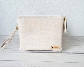 Cork Wristlet and Optional Crossbody Strap
