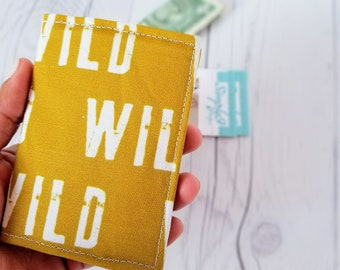 Wild Wallet, Mustard Yellow Wallet, Small Wallet, Small Women Wallet, Business Card Wallet, Credit Card Wallet, Credit Card Case, Keychain
