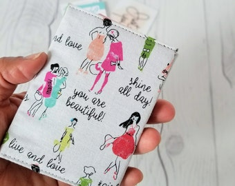Small Women Wallet, Pink Green Wallet, Teal Red Wallet, Business Card Wallet, Credit Card Wallet, Beautiful Wallet, Wallet Keychain