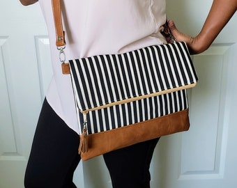 Crossbody Bags, Crossbody Purse, Faux Leather Bag, Crossbody Bags for Women, Striped Bag, Clutch Purse, Wristlet Purse, Gifts for Women