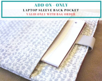 Slide Back Pocket Add-On (Only available with laptop sleeve order)
