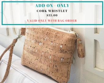 Cork Wristlet Add On (Only Valid with Large Bag Purchase)