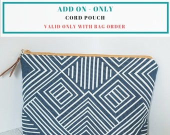 Cord Pouch Add-On (Only available with laptop sleeve order)