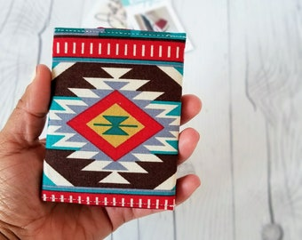 Tribal Wallet, Slim Wallet, Small Women Wallet, Business Card Wallet, Credit Card Wallet, Credit Card Case, Wallet Keychain, Tribal Gift