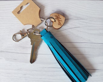 Cork Keychain, Tassel Keychain, Keychains, Cork Leather Keychain, Keychains for Women, Keychain Gift