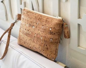 Cork Purse, Cork Wallet, Cork Bag, Cork Wristlet, Cork Clutch, Cork Gold, Cork Silver, Cork Rainbow, Cork Leather, Natural Cork, Cork Gifts
