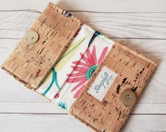 Cork Wallet, Small Wallet, Cork Wallet for Women, Small Womens Wallet, Cork Gifts, Credit Card Wallet, Small Cork Wallet, Womens Wallet