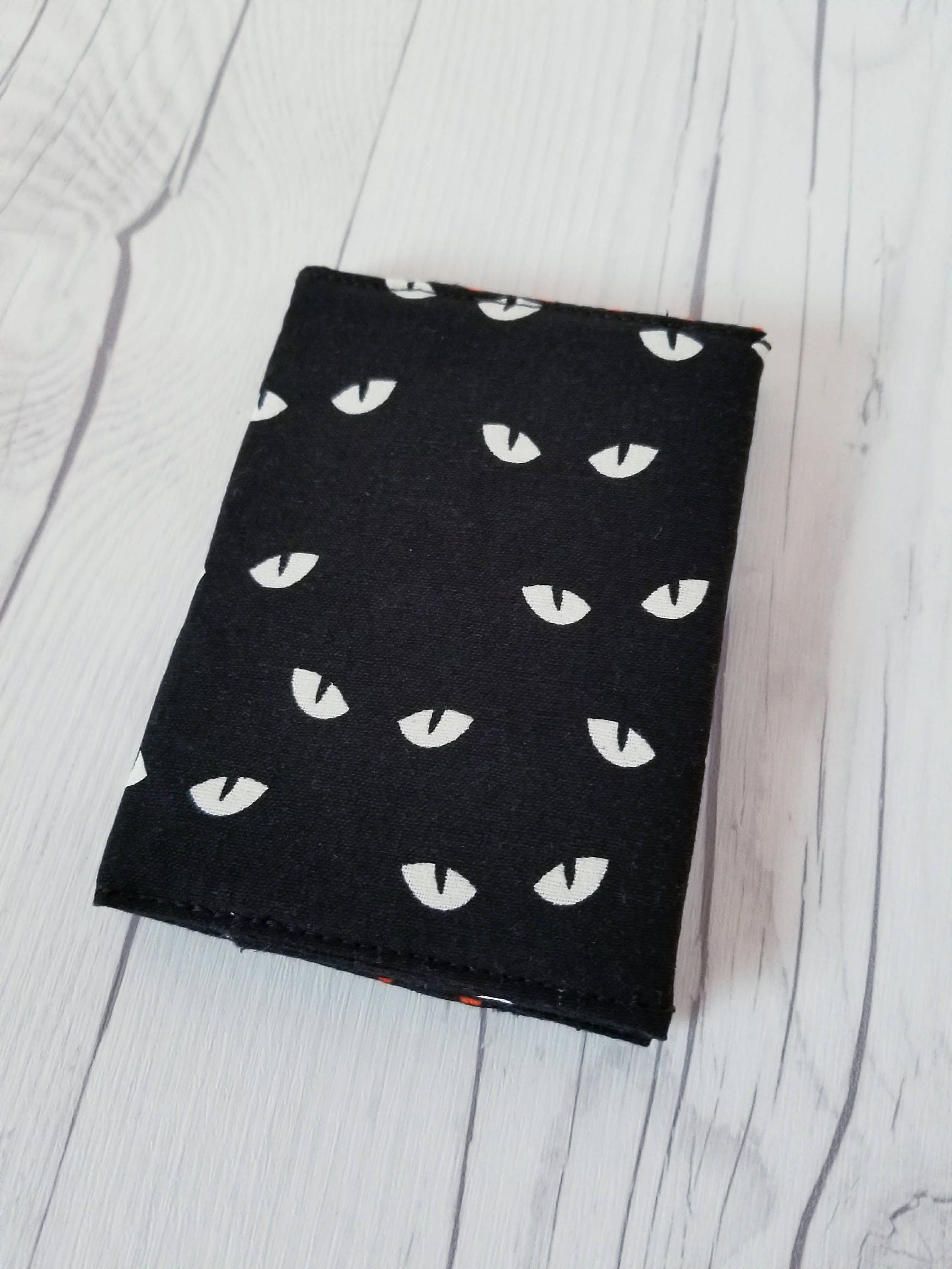 Black Cat Wallet, Black Wallet, Orange, Cat Slim Wallet, Small Women ...