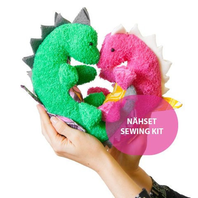DIY Sewing Set Dinosaur Geoffrey and Georgina MoiMemeHamburg image 0