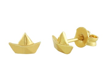 SCHIFFCHEN AHOI stud earrings gold-plated