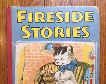 vintage 1941 illustrated children's book, Fireside Stories