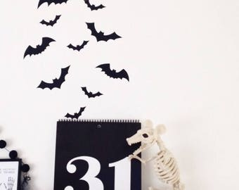 Bat Wall Decals~  Halloween Wall Decals~ Halloween Party Decor~ Bat Wall Stickers~ Halloween Stickers~ Halloween Decor