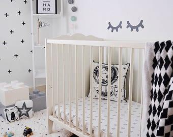 Sleepy Eyes Wall Decal ~  Wall Sticker ~ Nursery Decor ~ Nursery Wall Stickers ~ Eyelash Decals ~ Girls Nursery Decor ~ Nursery Wall Decor