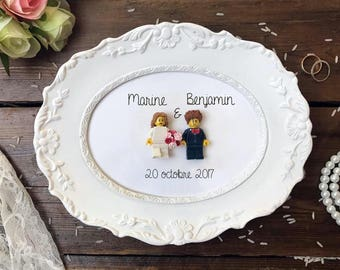 Married - wedding gift - personalized lego - Custom - Made in France - hand made