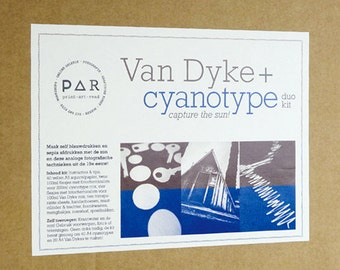 DIY Cyanotype and Van Dyke duo kit - analogue photography - love blue and brown - capture the sun - instructions french german english dutch