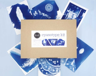 DIY Cyanotype kit - analogue photography - love blue - capture the sun - instructions in french, german, english, dutch