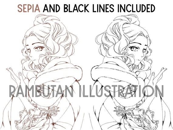 Manga Coloring Pages, Printable Coloring Sheets