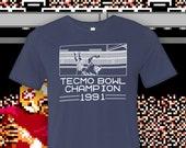 Tecmo Bowl Champion Crew Neck T-Shirt