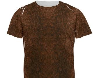 Halloween Beaver Costume All Over Adult T-Shirt