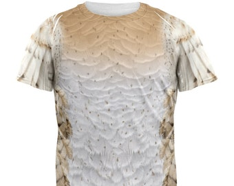 Halloween Barn Owl Costume All Over Adult T-Shirt