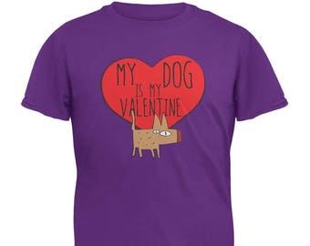 My Dog Is My Valentine Youth T-Shirt