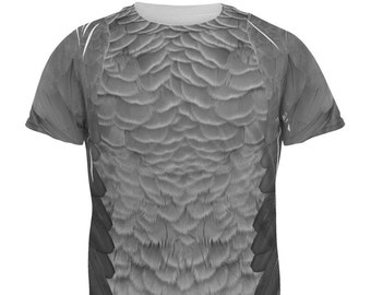 Halloween African Grey Parrot Costume All Over Adult T-Shirt