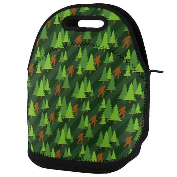 Sasquatch Bigfoot Woods Pattern All Over Neck Tie