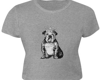Bulldog Crown Juniors Crop Top T-Shirt