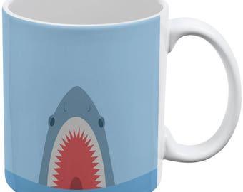 Cute Fun Shark Attack All Over Coffee Mug