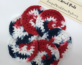 """3"""" Crocheted Face Pads / Skin Cleansing Rounds / Exfoliate Makeup Scrubbies / Facial"""