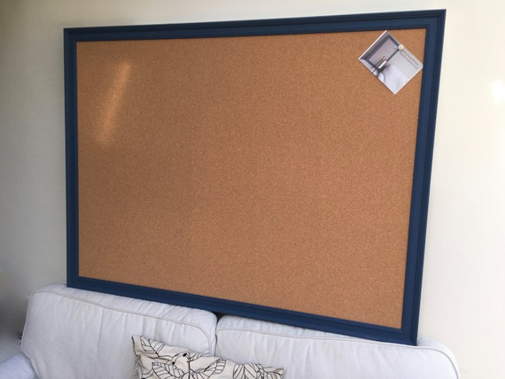 Super Size Pin Board A Large Cork Memo Board With Frame Etsy