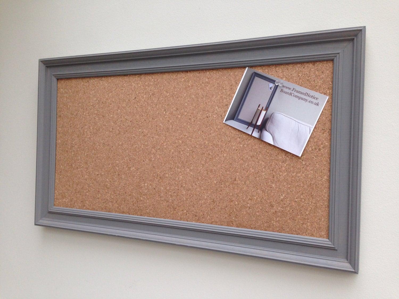 Große Pinnwand. Das Kork-Brett mit grauen Rahmen von Hand | Etsy
