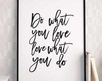 Love What You Do Etsy