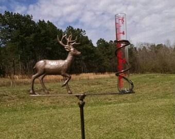 Big Buck Deer Rain Gauge by Bottle Tree Bob (Includes Rain Gauge)