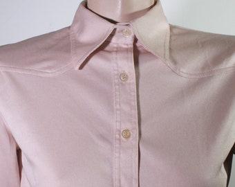 VTG 70's Pale Pink Blouse